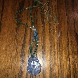 NWOT Yin Yang Medallion Necklace